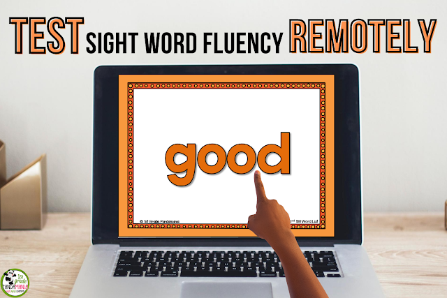 Test Sight Word Fluency Remotely