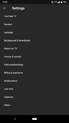 YouTube for Android's dark theme is beginning to widely roll out