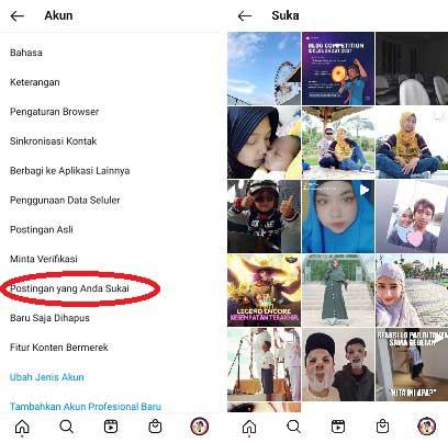 Cara Melihat Yang Kita Like di Instagram