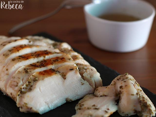 Pechuga de pollo a baja temperatura