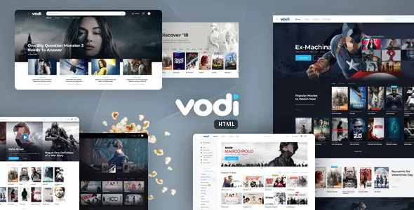 Best Video Website Template for Movies & TV Shows