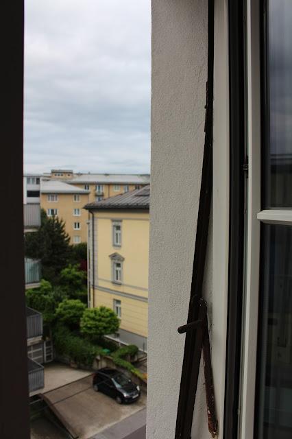 Blick aus dem Hotelfenster von Hotel Auersperg. #sbgatc16