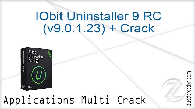 IObit Uninstaller 9 RC (v9.0.1.23) + Crack  |  19 MB