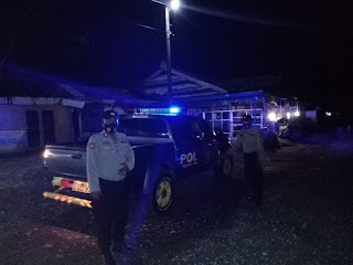 Tak Hentinya Polsek Cendana Melaksanakan Patroli Blue Light Pada Jam Yang Rawan Kantibmas