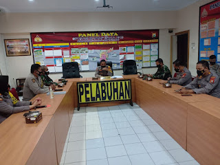 Menuju POLRI yang Presisi, Polres Pelabuhan Makassar bersama TNI Rakor Kamtibmas