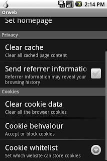Orweb: Npe + Privacy Browser v0.2.2