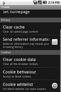 Orweb: Proxy + Privacy Browser v0.2.2