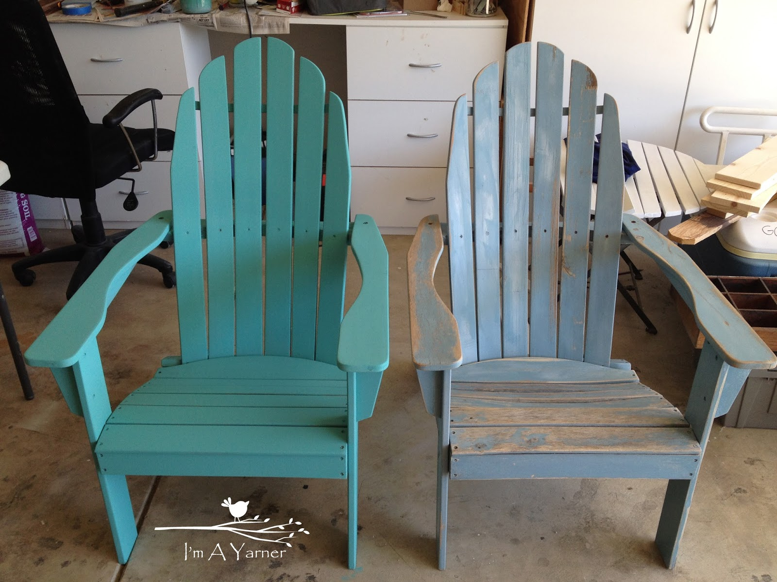 Paint For Adirondack Chairs Beige Slipper Chair I M A Yarner Updated What Huge Difference Little Can Make Don T Know Why But It Still Amazes Me