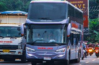 Bus Baru PO Murni Jaya & Laju Prima Keluar Karoseri Laksana