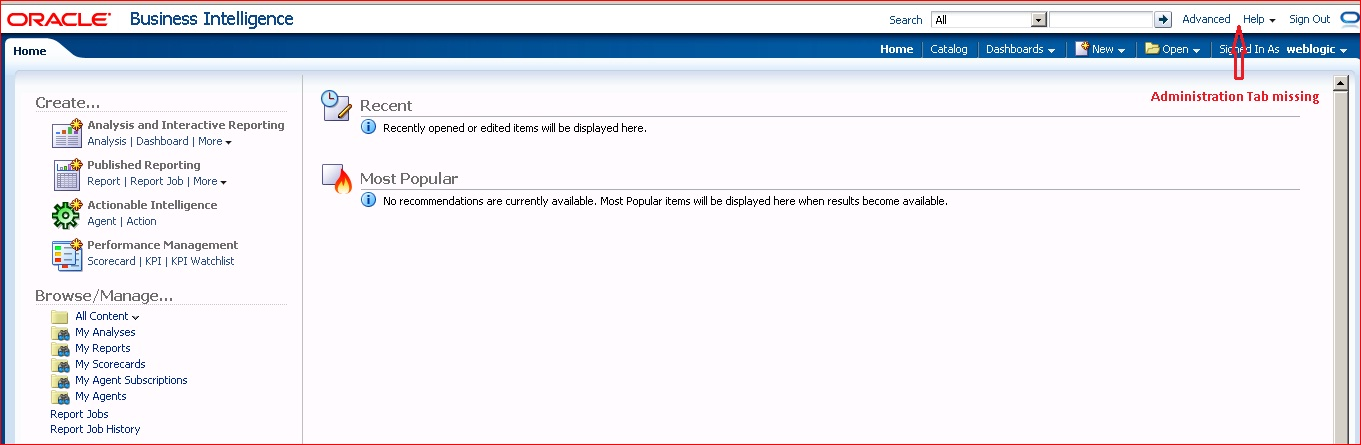 Above all else show the data: OBIEE Administration Tab Missing for ...
