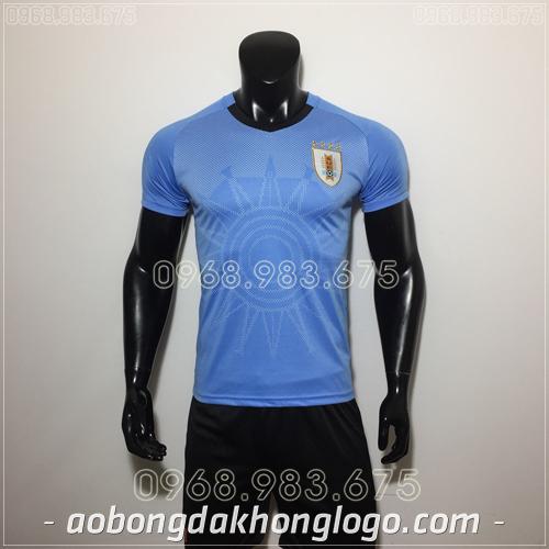 Áo Bóng Đá Đội Tuyển Uruguay Xanh 2019