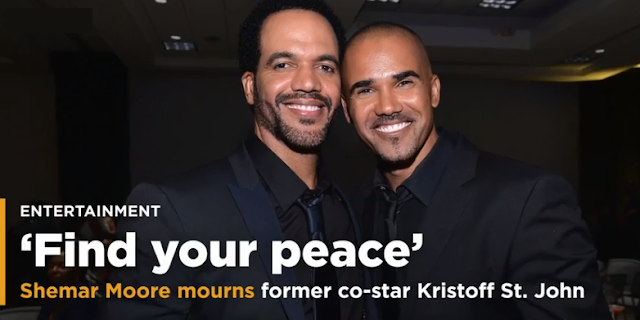 """I lost my brother"" Shemar Moore cries former co-star ""Young and the Restless"" Kristoff St. John"