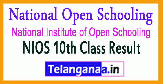 NIOS Secondary (10th Class) Exam Result