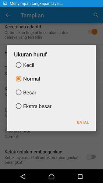 Cara Mengatur Ukuran Font dan Gaya Font di Android