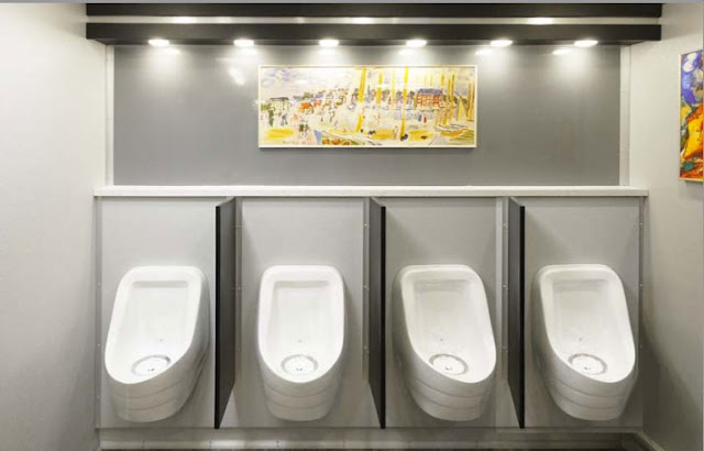 The Sloan Porcelain Urinals