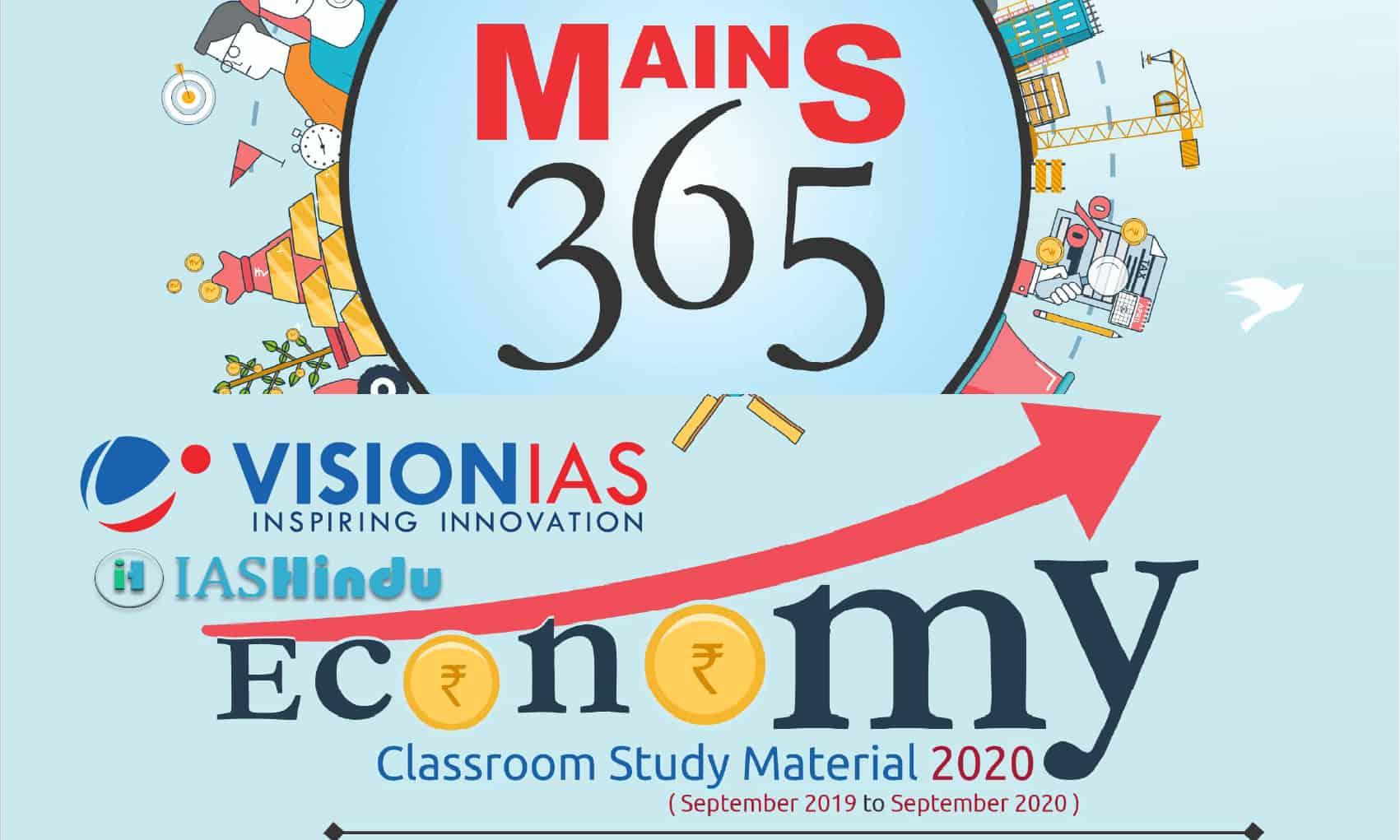 Vision IAS Mains 365 Economy 2020