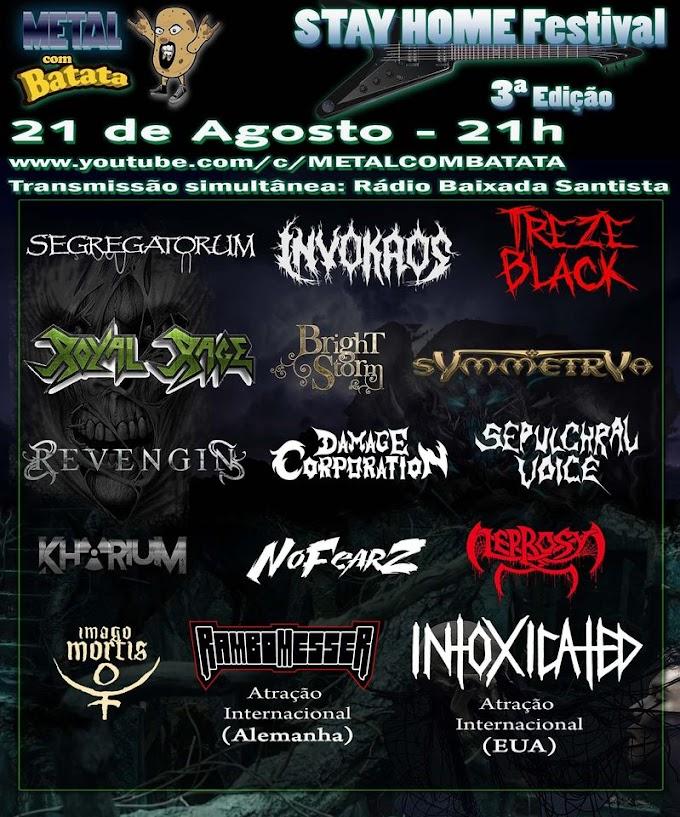 Conheça as Bandas: Metal com Batata Stay Home Festival 3° Edição