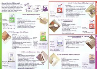 Brosur produk Semen Instan Mortar Utama