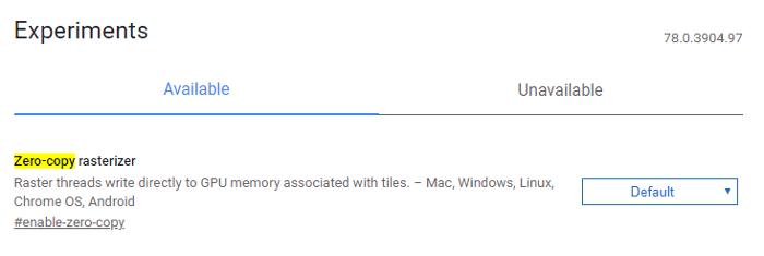 #أفضل Chrome Flags Zero Copy Rasterizer