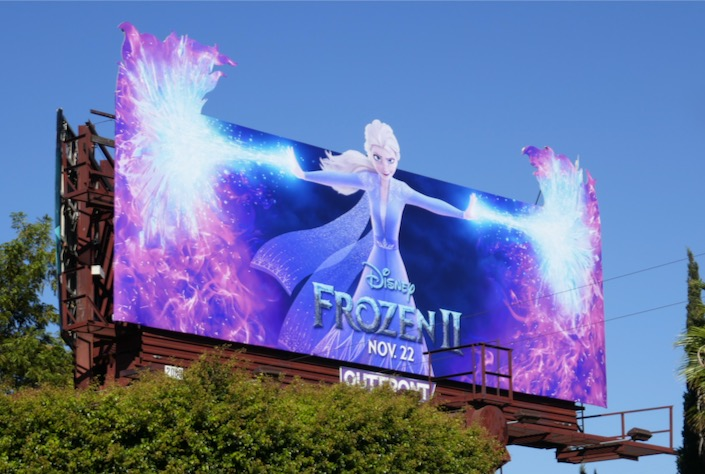 Elsa Frozen 2 movie billboard