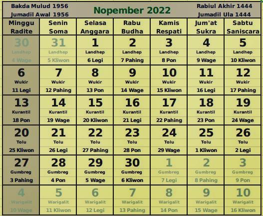 download kalender November 2022
