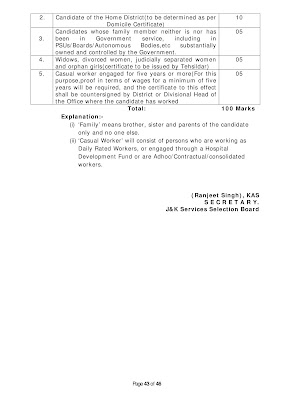 educational qualification class iv jkssb 2020
