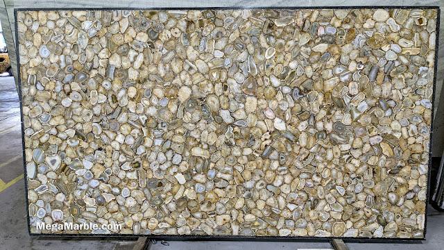 Yellow Brown Semi Precious Stone Slabs