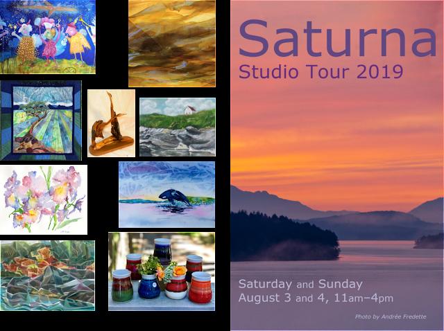 Saturna Island Studio Tour 2019, August 3-4, British Columbia, Canada