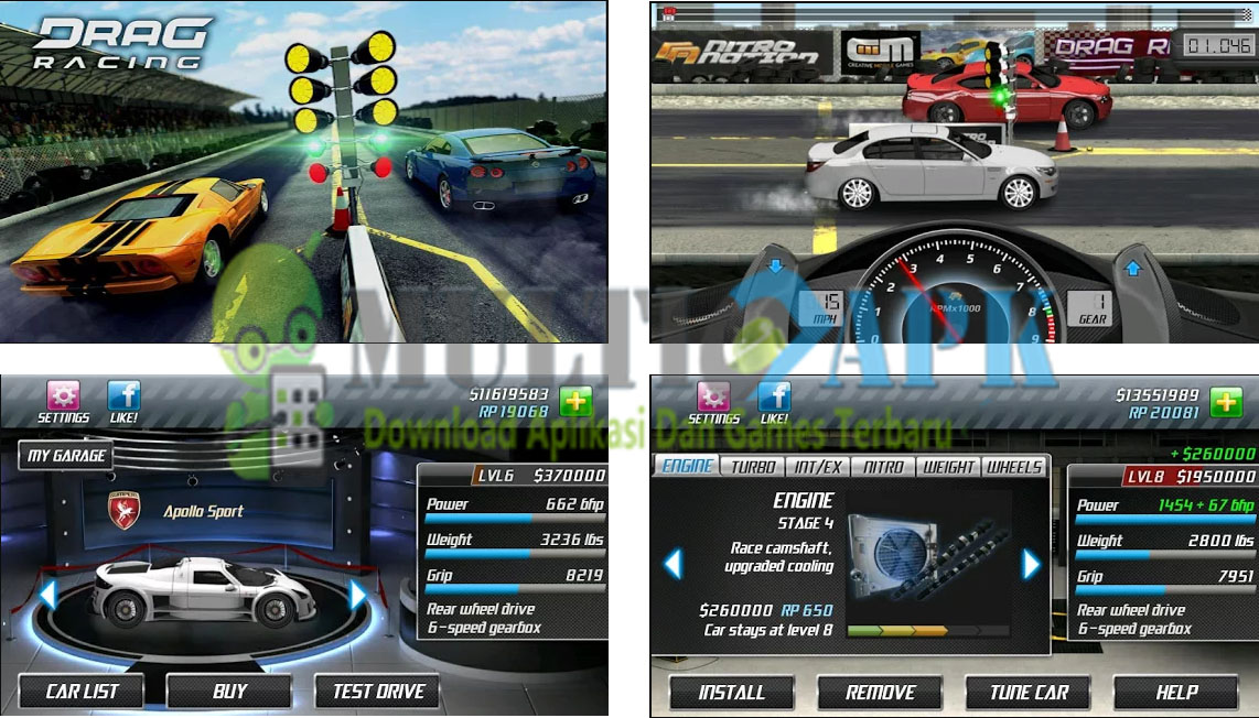 Download Game Drag Racing v1.7.17 Apk Mod Money/Unlocked