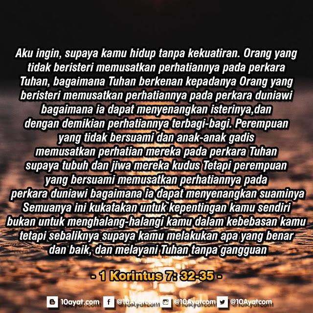 1 Korintus 7: 32-35