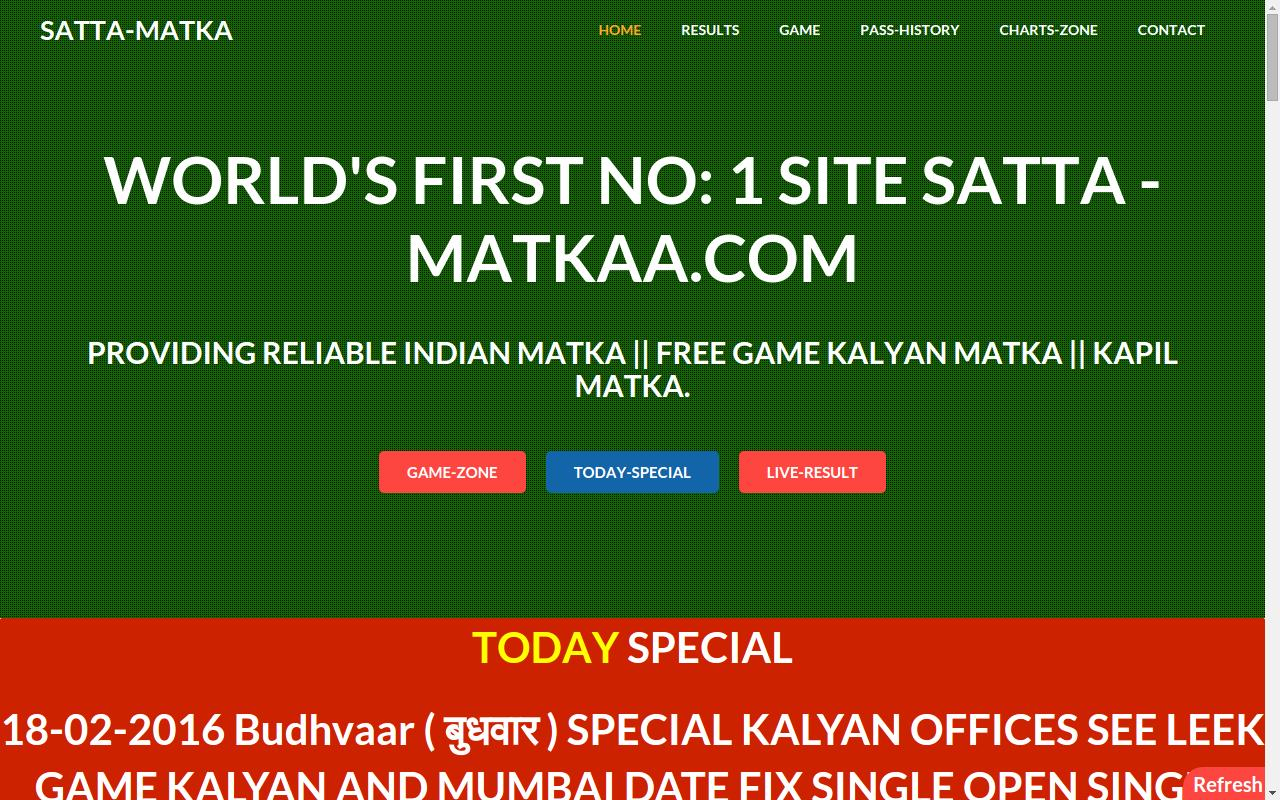 Satta Matka Tips Free Ank —