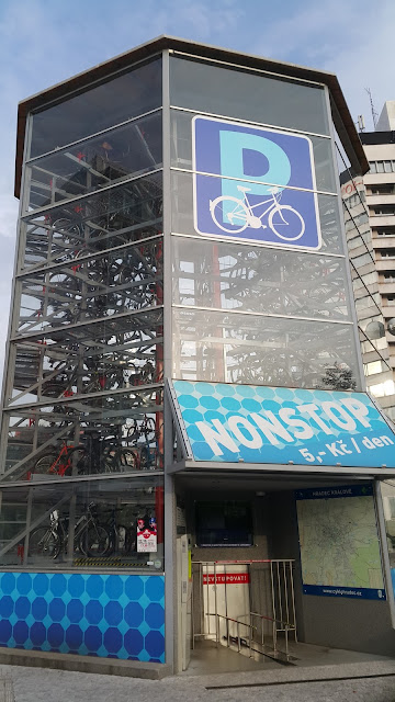 Robotic Bicycle Parking Tower in Czech Republic