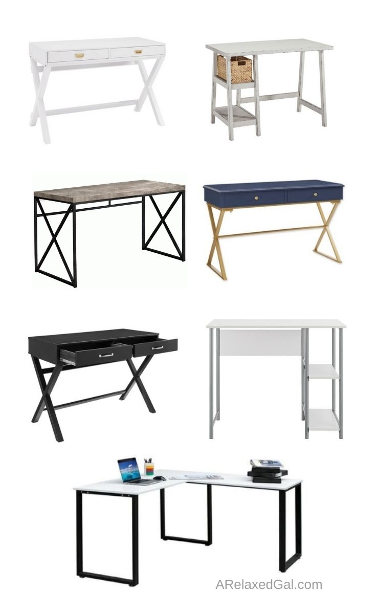 Budget-friendly Desks For Working Or Schooling At Home | A Relaxed Gal