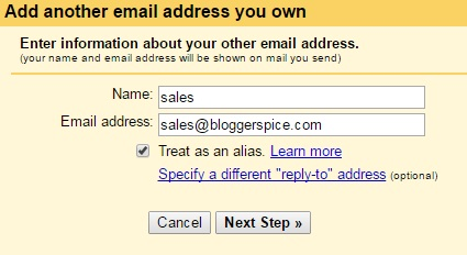sales email of bloggerspice