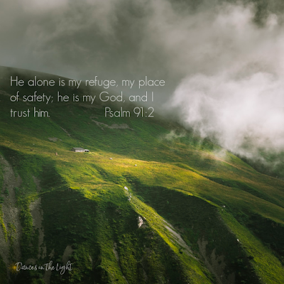 He alone is my refuge, my place of safety; he is my God and I trust him. Psalm 91:2