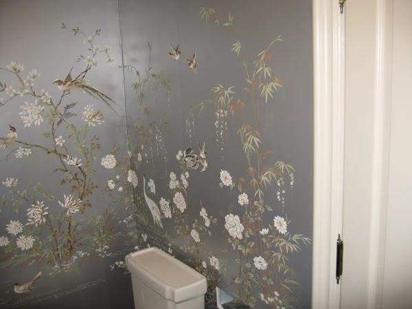 TnWallpaperHanger Powder Room Wallpaper Hanging Project