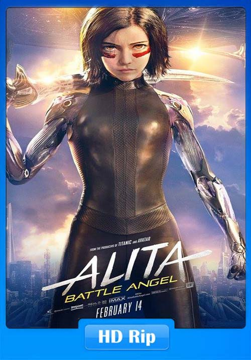 Alita Battle Angel 2019 720p HDRip Hindi Tamil Telugu Eng | 480p 300MB HEVC Poster