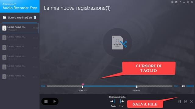 tagliare-registrazione