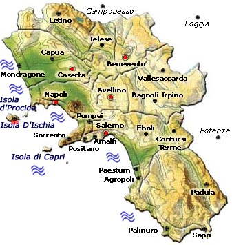 La Cartina Geografica Della Campania.Cartina Politica Napoli E Provincia