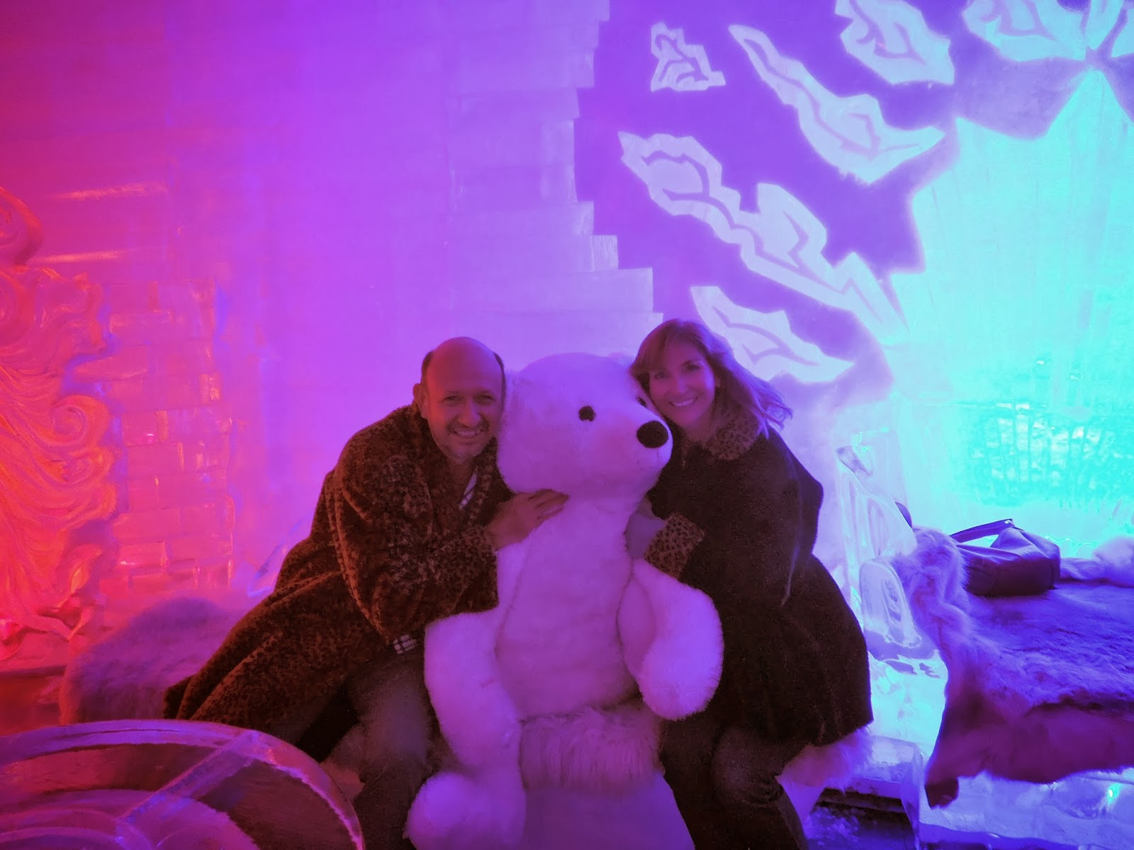 Ron and Susan with polar bear