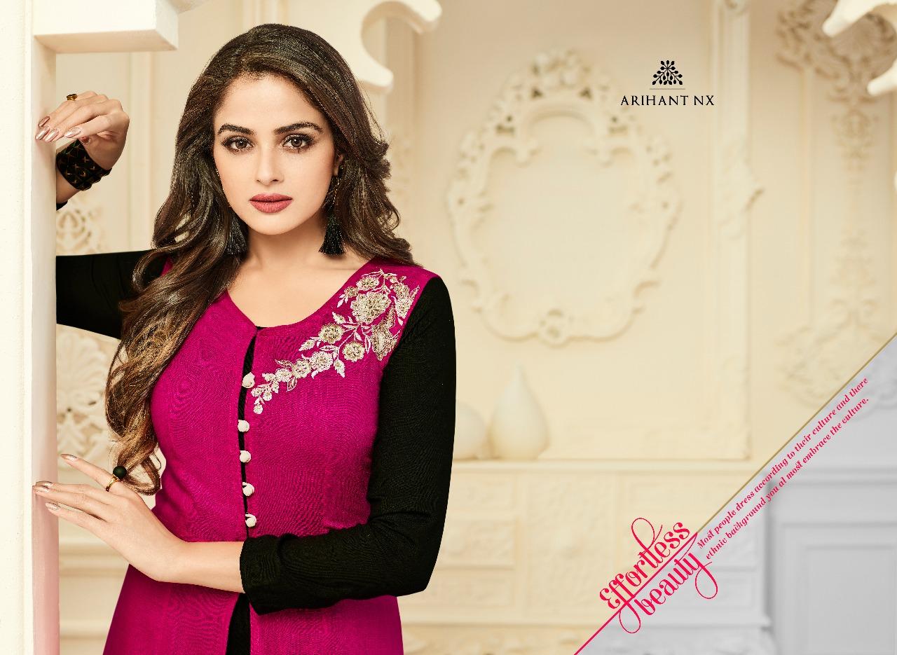 Arihant nx floral rayon dyed kurtis catalog