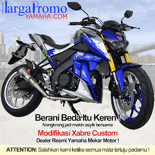 Modifikasi Yamaha Xabre Custom Monster Blue