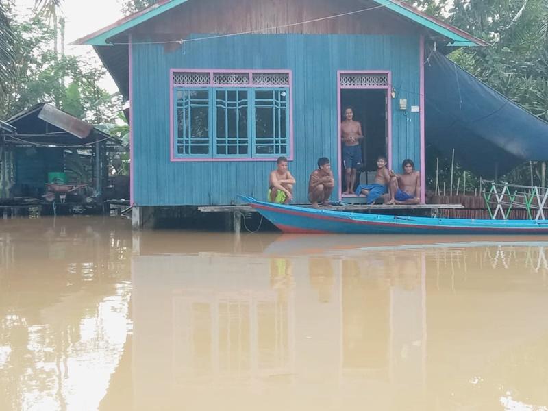 Diguyuri Hujan Tiga Hulu Sungai, Sembilan Kecamatan Digenangi Air