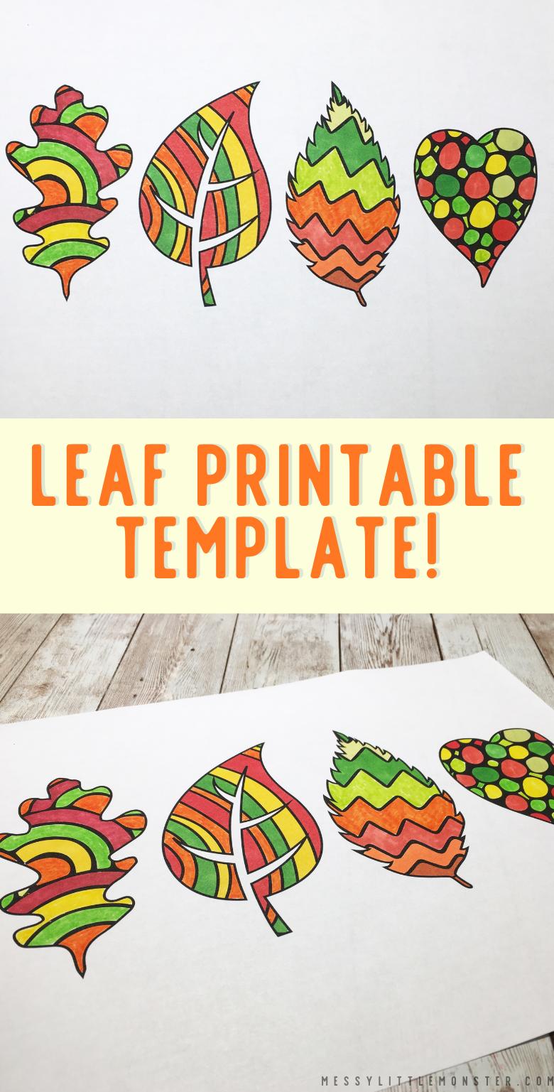 Leaf template. Printable leaf templates for leaf crafts. Leaf outlines, simple leaf templates for kids.