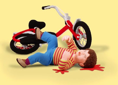 Road accident animated image