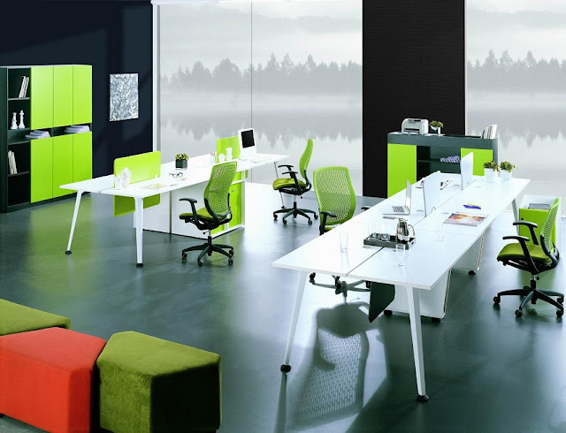 best white green modern office furniture pictures with storage