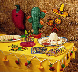 Fiesta mexicana for Decoracion kermes mexicana