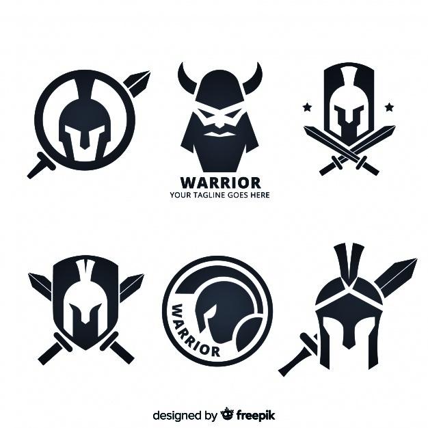 Mentahan Logo Esport No Text Minimalis Warrior Type