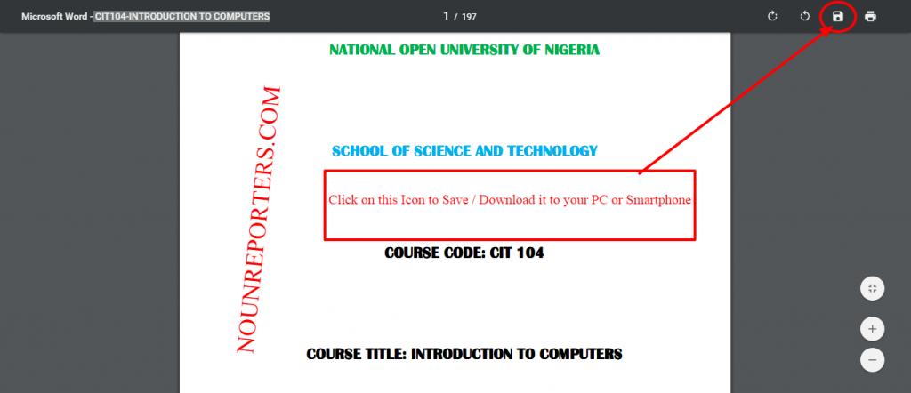 download noun course materials