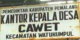 Pemalang Jawa Tengah: Desa Cawet